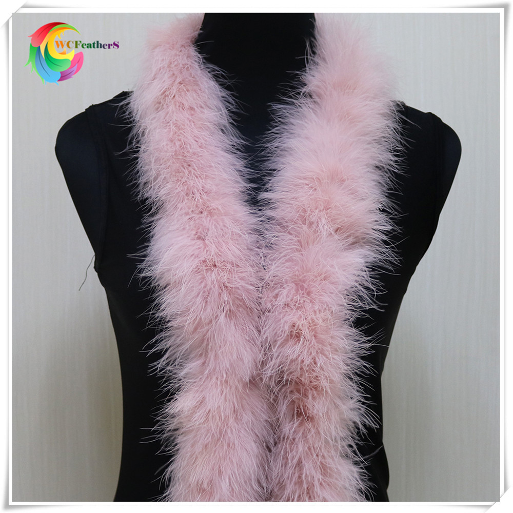 48-50g 2meters long fluffy feather boa dyed leather pink turkey feather boa for party/carnival costumes/party boa shawl ...