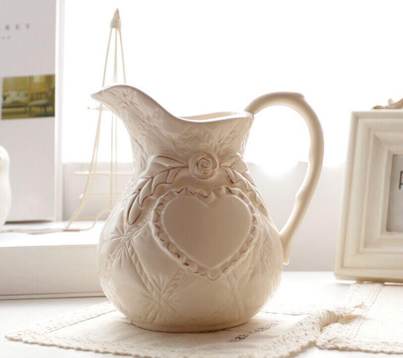 Fashion Home Decorative Flower Vases Europe Ceramic Teapot Vase