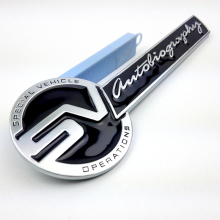 1PCS Metal Alloy SV Autobiography Car Sticker Badge Decal Emblem For RANGE ROVER