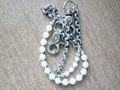 Hot Sale New Model Design Imitation Pearl Key Chain For Sale, Stainless Steel Pants Chains Accessries Gift For Men