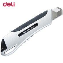 все цены на Deli Zinc Alloy Large Size Utility Knife High Quality Auto-lock Paper Cutter Razor Blades Knife School Office Stationery Tools онлайн