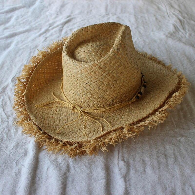 94df95e4a02 2018 Summer Men Raffia Jazz Hats Mens American Western Cowboys Straw Hat  Print Stars Beach Sun Caps for Men-in Sun Hats from Apparel Accessories on  ...