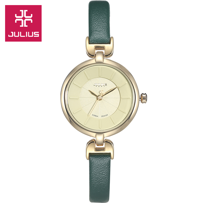 Lady Women's Watch Japan Quartz Hours Top Fashion Dress Simple Leather Bracelet Girl Christmas Birthday Gift Julius top julius homme men s watch japan quartz hours fine fashion dress bracelet simple leather birthday lovers boy gift