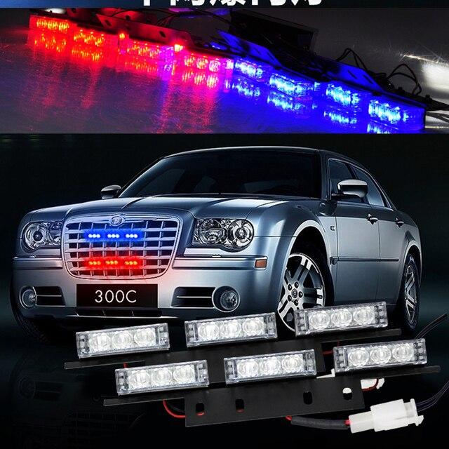 2*9 18 LED Warning Blinking Strobe Flash Lights/Lightbars for Deck Dash Grille LED EMERGENCY STROBE LIGHTS