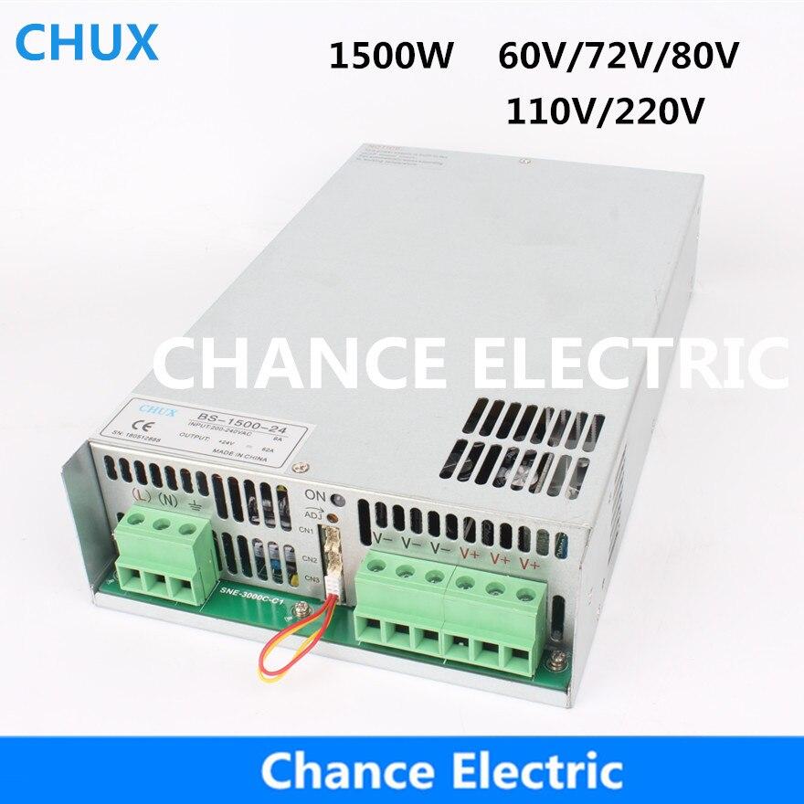 New Switching Power Supply 60v 72v 80v 110v 1500W Wall Mount BS-1500W Industry Single Output PSU