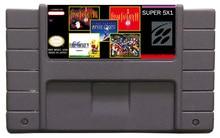 Clásico de snes game/multiples juegos/envío gratis/venta caliente/ms001/5in1/orden mezclada/snes cartucho