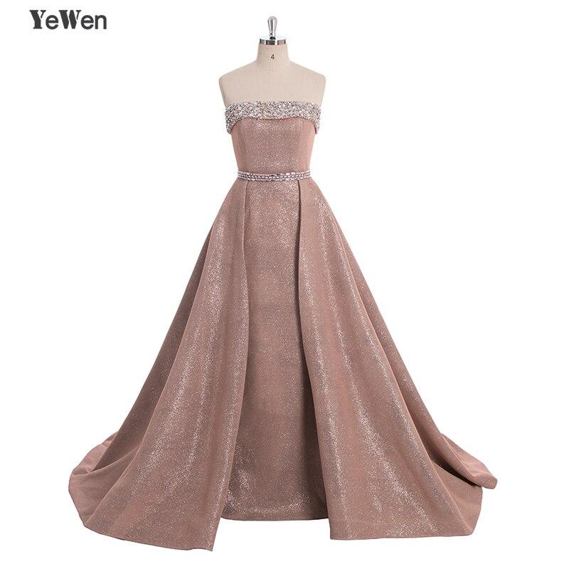 ef13e4c7de29d DuBai Designer Strapless Sequins Pink Beading Luxury Slim Sexy Mermaid  Evening Dresses Vintage ...