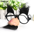 Funny Black Eyebrow Noes with Mustache Costume Party Glasses  April Fool's Day Props Halloween Festive Party Supplies Decoration
