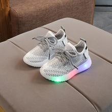 Toddler Boy Sneakers Children Baby Boys Mesh Led Light Luminous Running Sport Sneaker Shoes Chaussure Lumineuse Pour Garcon