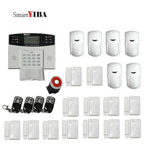 Smartyiba Alarm-System Wired Wired-Type-Sensor Home-Security GSM Intercom-Link Lcd-Display