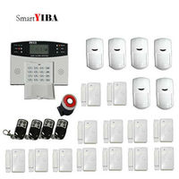 SmartYIBA LCD Display Wireless Wired GSM Alarm System Home Security Intercom Link Wired Type Sensor
