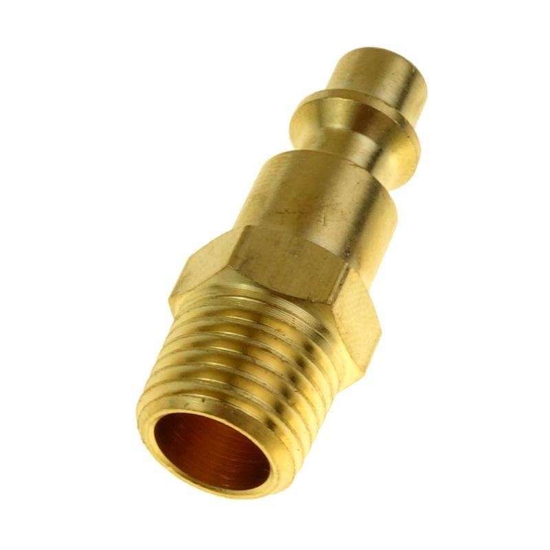 5 pack Air Compressor 3 Way Round Manifold Splitter Brass 1//4 NPT Coupler