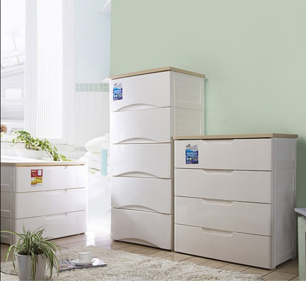 Nice Large Luxury Wooden At Home Drawer Storage Cabinet White Plastic Storage  Cabinet Child Baby Wardrobe
