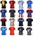O envio gratuito de 2015 t-shirt Superman/Batman/spider man/captain America/Hulk/Iron Man/t camisa camisas dos homens t camisas dos homens de fitness