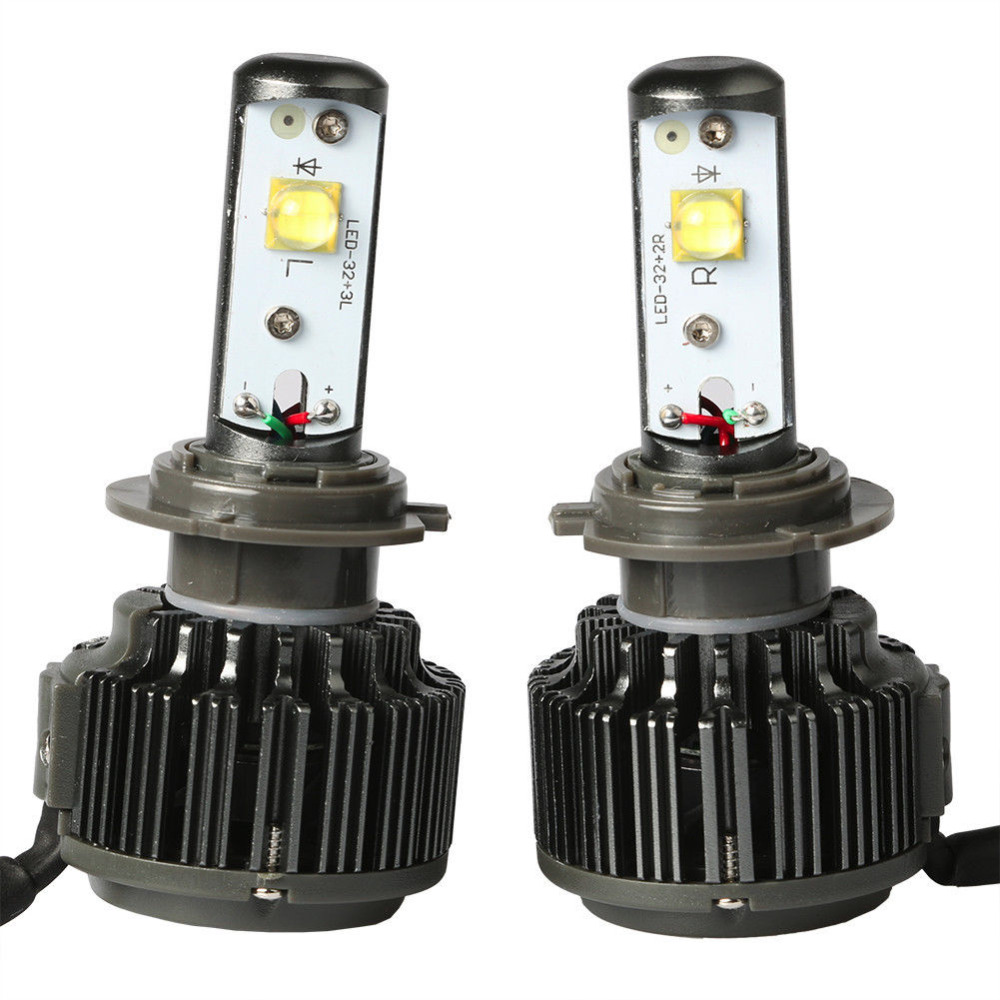 Super Bright H7 LED Car Headlight Conversion Kit 60W 7200LM Fog DRL Daytime Light Source Auto