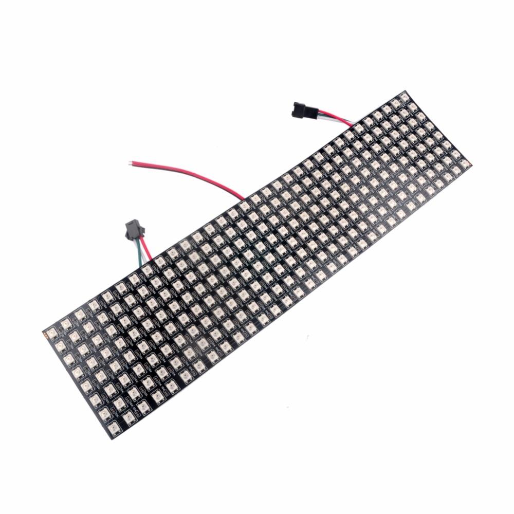 Адресуемый WS2812 5050 8X32 пикселей гибкий RGB светодиод матрица панель + DC5V 20A 100 Вт Трансформатор питания + инфракрасный светодиодный контроллер - 2