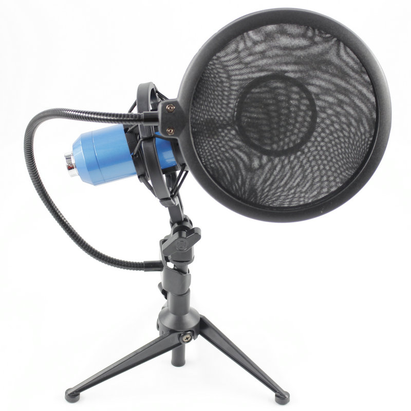 BM8000 Wired Recording Condenser Microphone with 3 5mm Plug Shock Mount For Computer Pop Filter