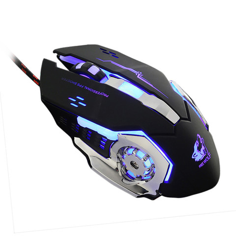 Brand Mouse Durable Gaming Mouse Wired LED Light 4000DPI Optical Usb Ergonomic Pro Gamer Gaming Mouse Metal Plate Islamabad