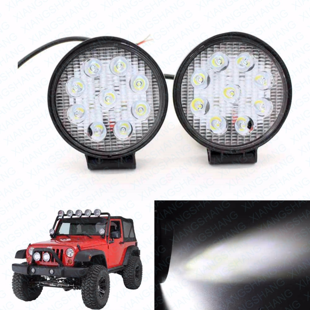 2x 4inch Auto LED Work Light Bar Spot Beam Offroad Driving Housing Worklights Lamp Car Lighting Worklamp for Jeep Boat SUV