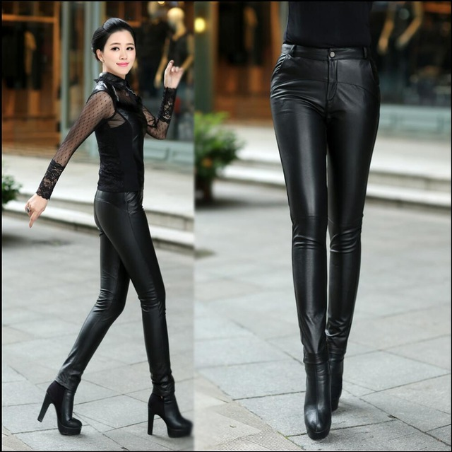 tight pants in Women leather