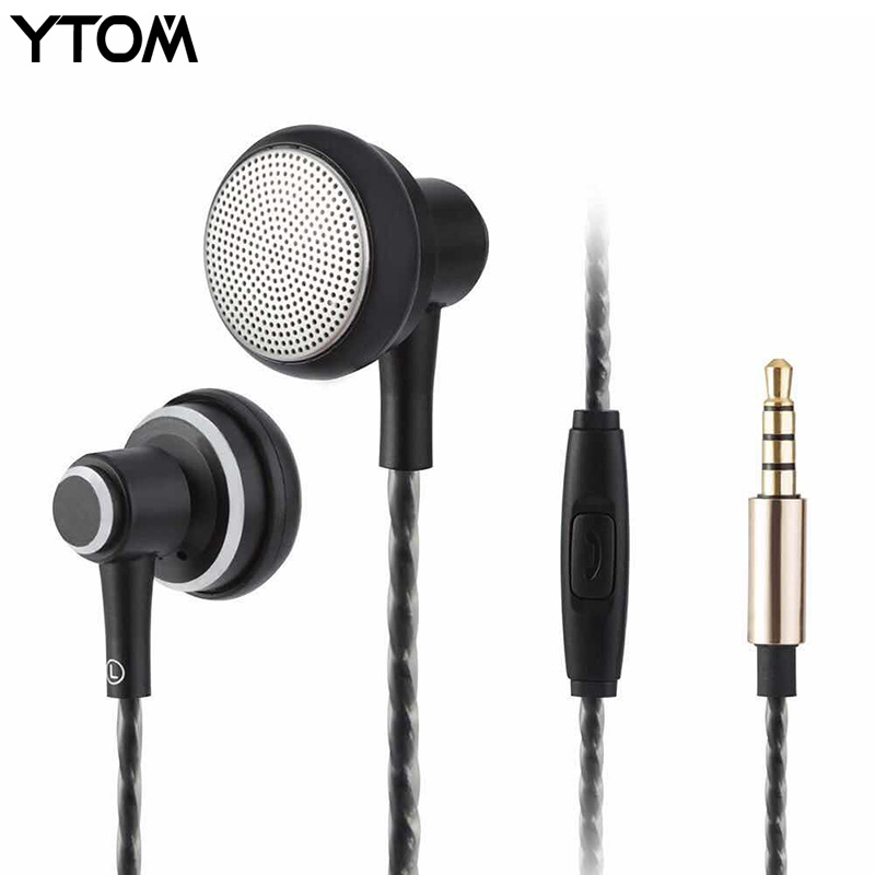 2018 New Flat Earphone Stereo BASS headset With Microphone fone de ouvido gaming audifonos dj mp3 player for phone xiaomi metal gaming headset stereo v2 earphone gamer led light hi fi headphones mp3 with microphone for computer pc fone de ouvido