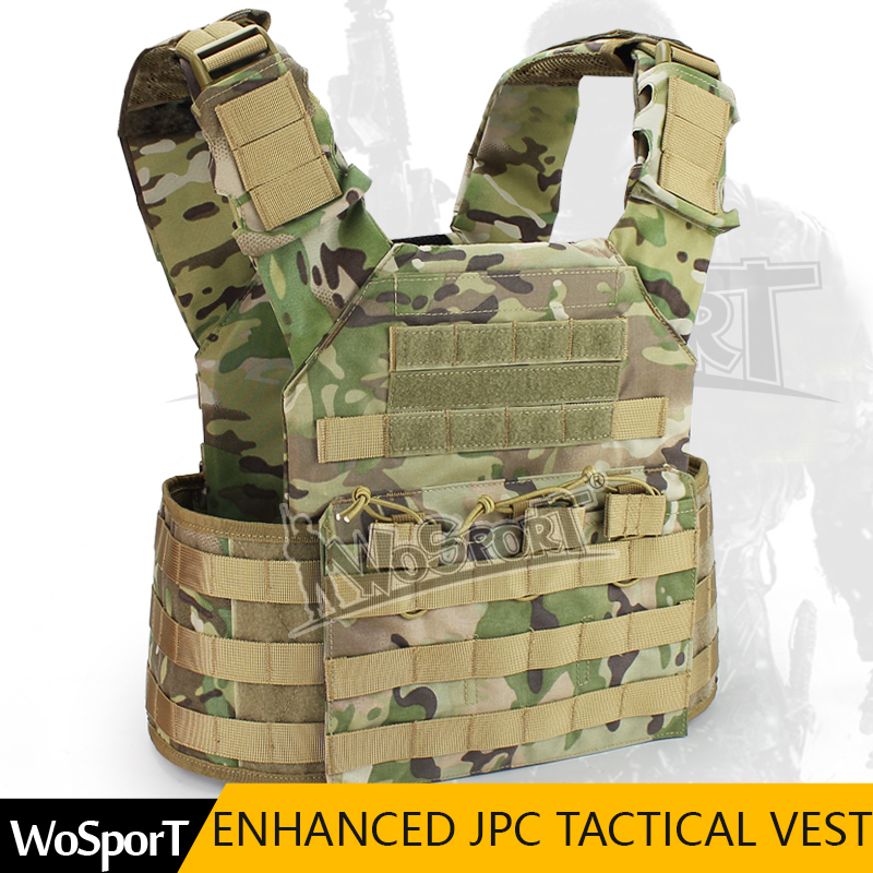 WOSPORT Military Enhanced Tactical JPC Vest Chest Rig Jumper carrier Airsoft Nylon MOLLE Gear for Paintball Hunting Shooting airsoft adults cs field game skeleton warrior skull paintball mask