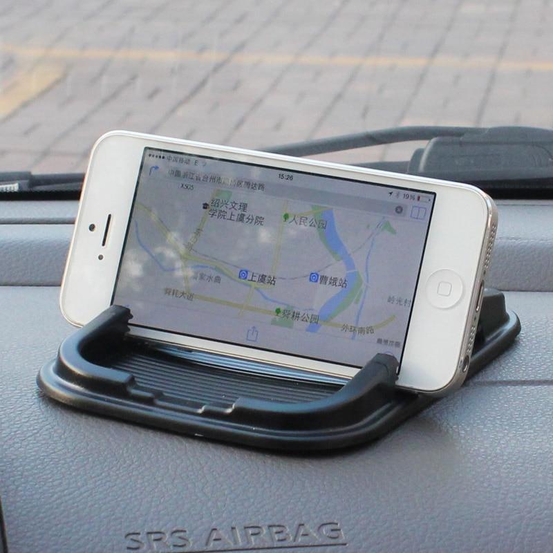 Car amte slip resistant pad car slip resistant car cell phone pad double slot gps navigation