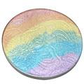 3D Cara de Maquillaje de Sombra de Ojos Colorete Resaltador Rainbow Glitter Powder Bronzer Contour Palette Portable Transpirable Fresco
