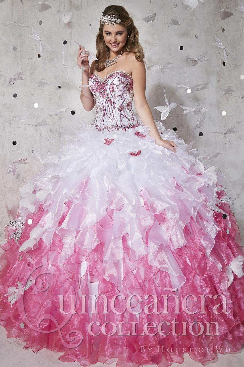 Aliexpress.com : Buy White And Pink Quinceanera Dresses 2016 Ball ...