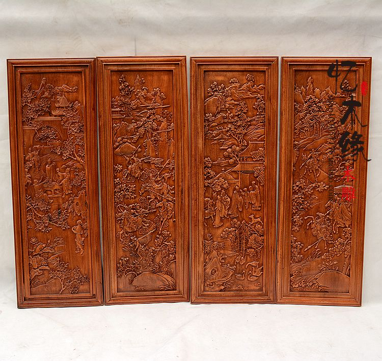 Dongyang woodcarving entrance partition, screen incense camphor wood, television background wall pendant, solid wood wall hangin dongyang woodcarving camphor wood furniture wood carved camphorwood box suitcase box antique calligraphy collection box insect d