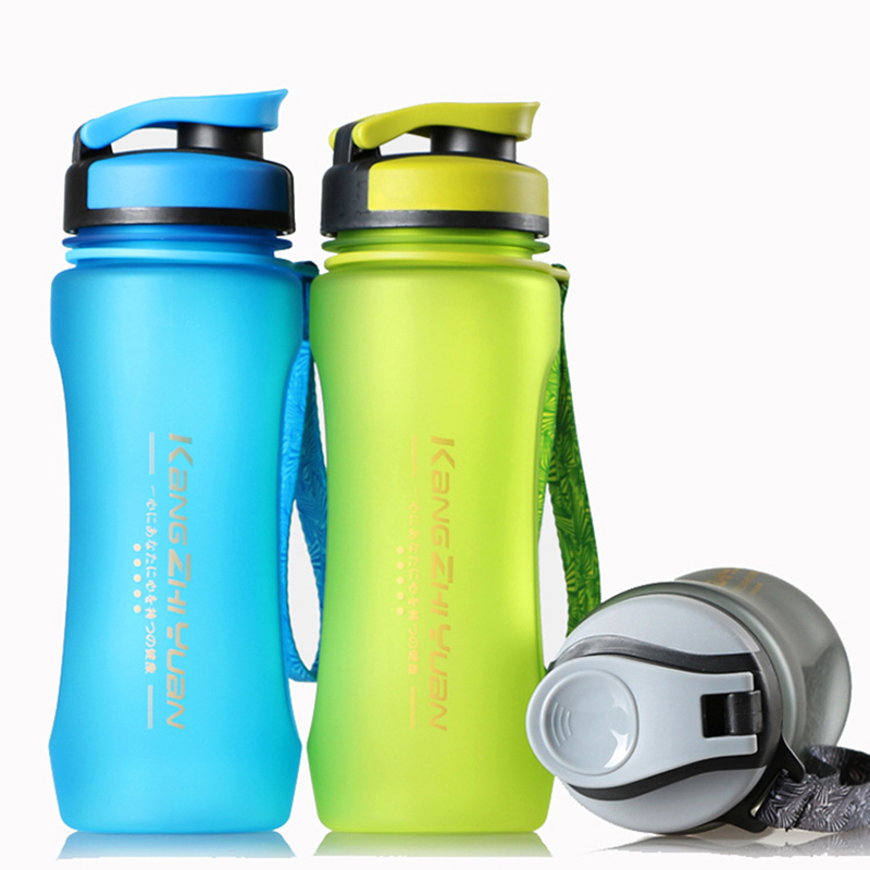 Sports Water Bottle 600 ml BPA Free Portable Plastic Drink Outdoors Bike Cycling Fruit Juice Eco-Friendly Drinkware BST-1