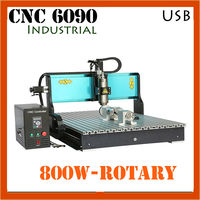 Industrial 6090 Cnc Router Moulding Wood Design Carving Duplicator 4 Axis Small 3d Milling Woodworking Wood Processing Machine