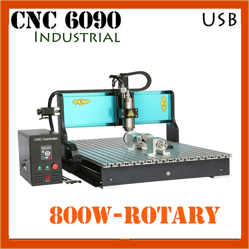 JFT Industrial Wood CNC Machine 4 Axis 800W CNC Router with USB Port High Quality Engraving Machine 6090 jft new arrival high speed 4 axis 800w affordable cnc router with usb port precision drilling machine for woodworking 6090