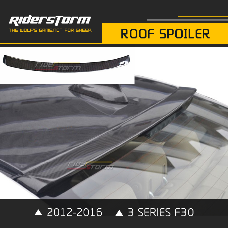 For New BMW 3 Series F30 Carbon Fiber Roof Spoiler AC Style Wing 320i 328i 335i 326D 2012-2016 Car Styling Accessories front kidney grille bumper grill for bmw f30 f31 f35 320i 328i 335i 2010 2011 2012 2013 2014 glossy black car styling p356