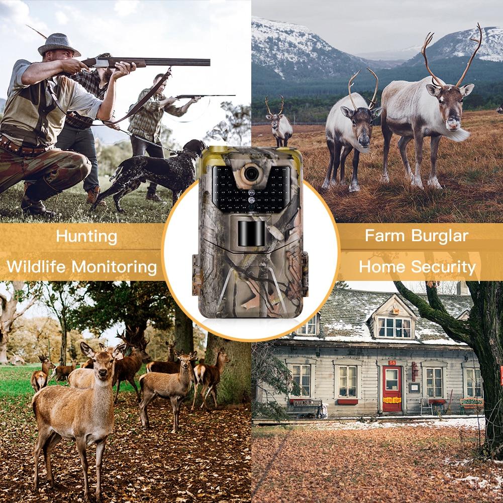 16MP 1080P 4G//3G//2G MMS Wildlife Hunting Trail Kamera Video Nacht Version IR Kam