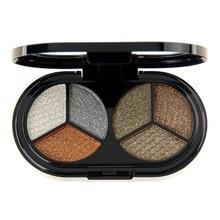 6 Colors Glitter Eyeshadow Makeup Palette Waterproof Brighten Shimmer Pigments Lasting Eye shadow Cosmetics