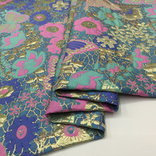 1 meter jacquard brocade fabric yarn dyed cloth patchwork fabrics metallic telas