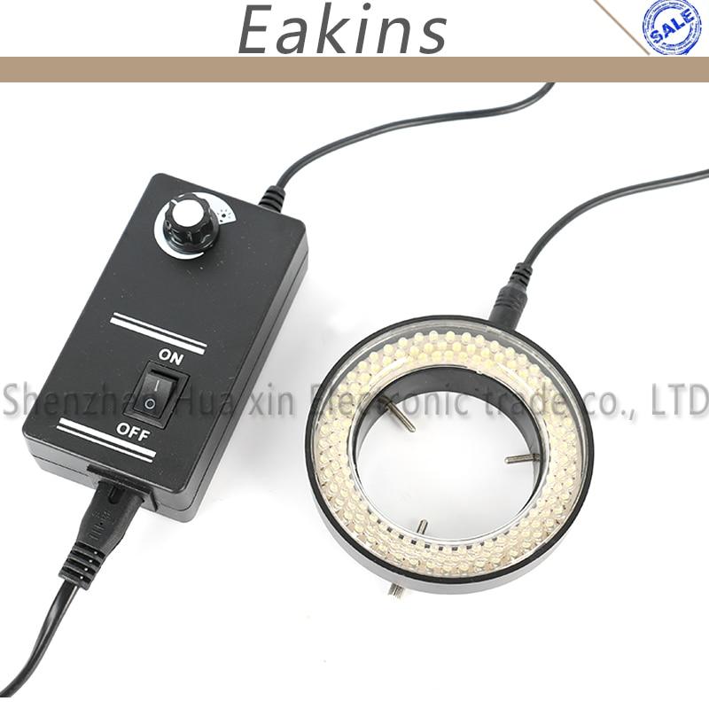 5W Adjustable 144 LED Ring Light illuminator Lamp 100V-240V For Stereo microscope Digital Industrial Microscope CCD Camera 48 led stereo microscope light source adjustable ring lamp light ccd illuminator w diffusion plate for industrial camera