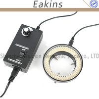 6500K 5W Adjustable 144 LED Ring Light illuminator Lamp 100V 240V For Stereo microscope Digital Industrial Microscope CCD Camera