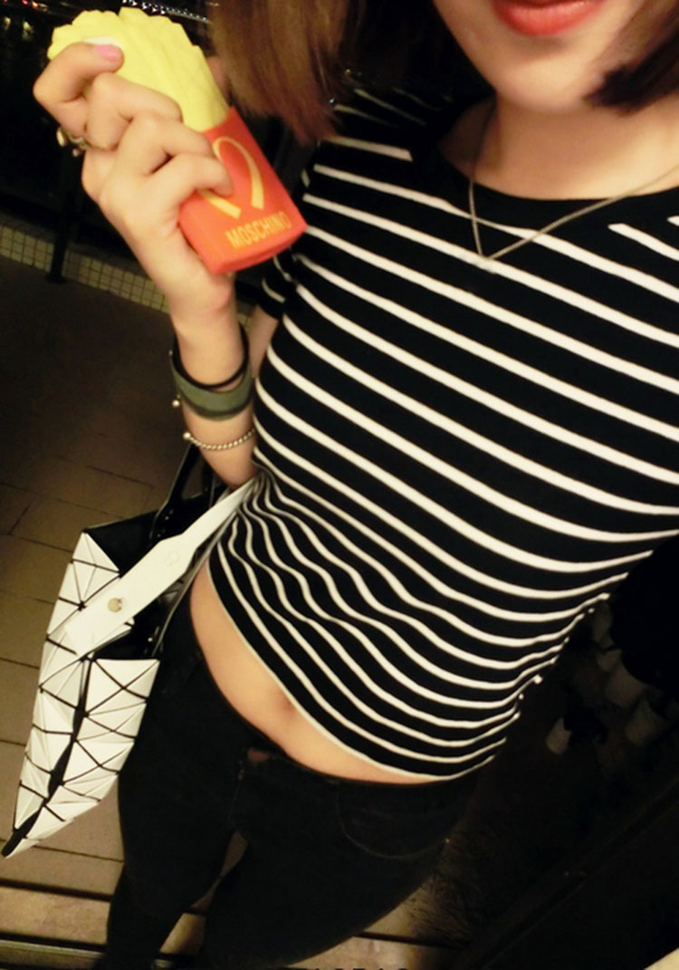 HTB1J15qXyAKL1JjSZFoq6ygCFXaB - FREE SHIPPING Ladies T shirt Sexy Crop Tops Striped Short JKP130