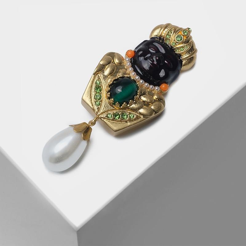 Amorita boutique broche pendentif en perles de style indienAmorita boutique broche pendentif en perles de style indien