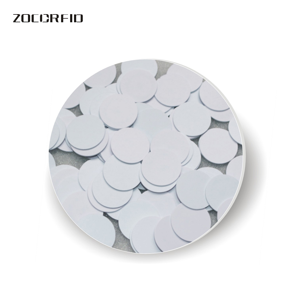 100pcs/lot 20mm 13.56MHZ S-50 Natatorium Cabinet Lock Hand Catenary Special Coin Style RIFD Chips