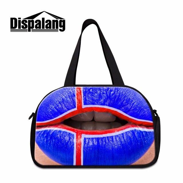 Dispalang Dica 3D Impresso Senhoras Fim de Semana Sacos de Viagem Duffle Bag para Mulheres Dos Homens Da Bandeira Americana Personalizado Grande Bagagem Saco Meninos