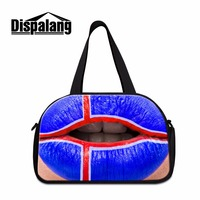 Dispalang Tip 3D Printed Ladies Weekend Travel Bags American Flag Duffle Bag for Women Mens Personalized Large Luggage Bag Boys