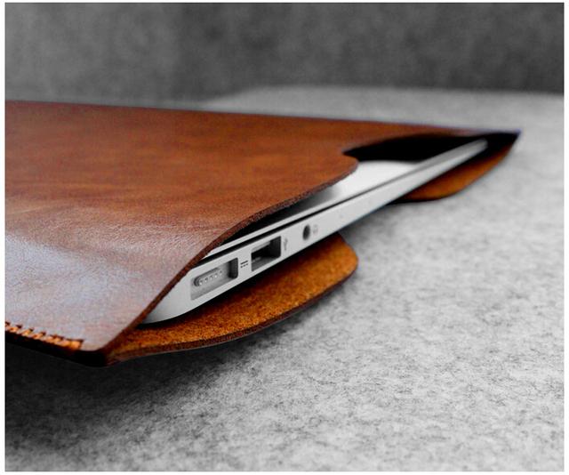 Microfibra De Cuero W451 11 12 13 15 Pulgadas para Portátiles Maletines Para Macbook Tablet Bolsa Bolsa de Protección de Fibra de Ultra Fino Y Ligero de La Manga