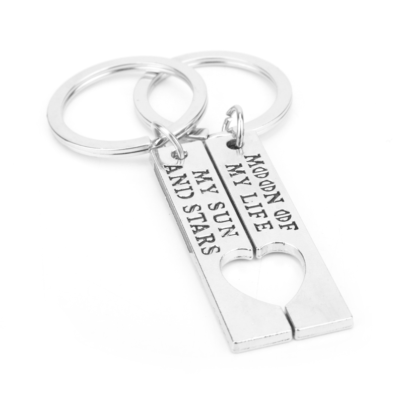 HANCHANG 2pcs Keychain Moon of My Life, My Sun and Stars Game of Thrones Gift Lovers Couples Accessories Keychain Gift