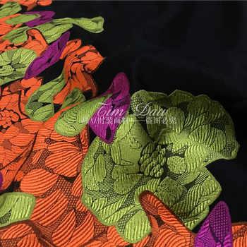 位置決め花ジャカード生地イタリア染めファッションジャカードブロケード生地ジャカードドレス生地卸売布