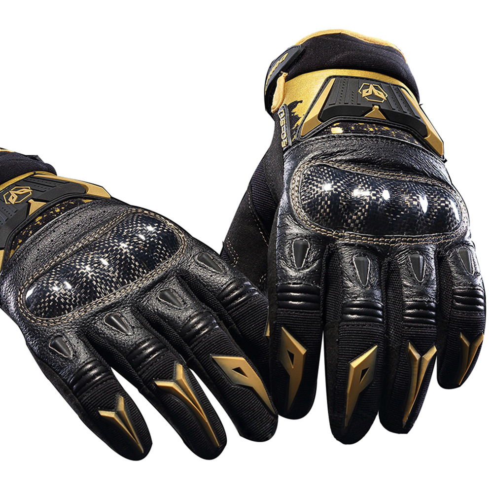 Motorcycle leather gloves india - Genuine Leather Duhan Ds03 Motorcycle Gloves Autumn Riding Knight Men Gloves Off Road Racing Gloves