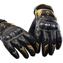 Натуральная кожа Духан DS03 Мотоцикл перчатки осень езда рыцарь мужские перчатки Внедорожные гоночные перчатки мотоцикл краш-доказательство GDS03