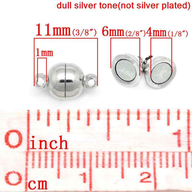 """DoreenBeads 1 Sets Silver Tone Magnetic Clasps 11x6mm(3/8""""x2/8"""")"""
